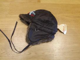 Nauja Graži šilta žieminė kepurė su raištukais 52-