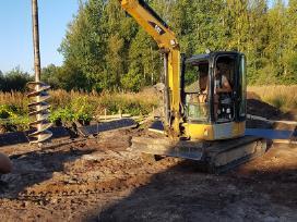Poliu grezimas planiravimas zemes darbai drenazas