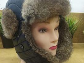 Siltos kepures su naturaliu triusio kailiu