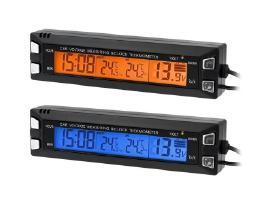 Automobilio Termometras Voltmetras Laikrodis - nuotraukos Nr. 2