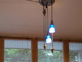 3 ir 4 lempu lubų šviestuvas – lempa