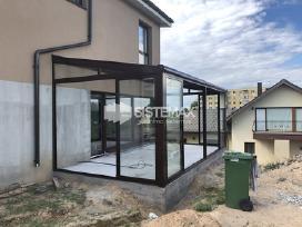 Terasu stiklinimas, stoginės, verandos, turėklai. - nuotraukos Nr. 2