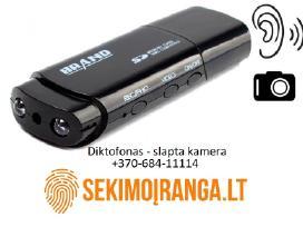 Slaptas Mini diktofonas + slapta kamera