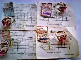 Nauji auksiniai žiedai su akutėmis