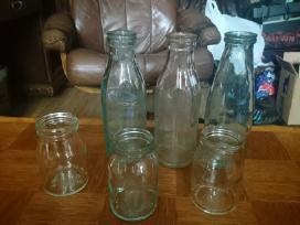 Seni pieno ir grietinės buteliai