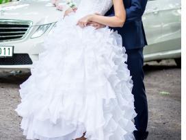 Rankų darbo vestuvinė suknelė - nuotraukos Nr. 2
