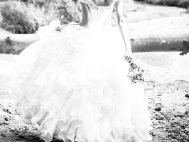 Rankų darbo vestuvinė suknelė - nuotraukos Nr. 3