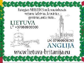 Šeštadienį į Angliją - antradienį į Lietuvą