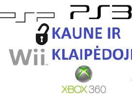 PS3, Ps4, Xbox360 Wii atrišimas taisymas žaidimai
