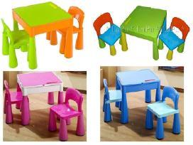 Nauji staliukai su kėdutėmis