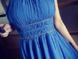 Mėlyna lengva ilga suknelė