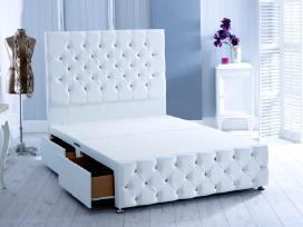 Nauja klasikinė odinė lova su čiužiniu - nuotraukos Nr. 2
