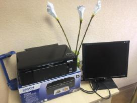 Pigiai parduodam monitori ir spausdintuva