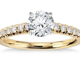 Naujas Auksinis Žiedukas su tikrais Deimantais