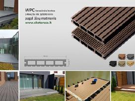 Wpc terasinės lentos iki 12m pagal duotus matmenis