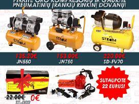 Oro kompresorius + dovana 5in1 pneum.irankiu rink