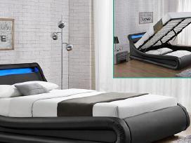 Nauja odinė lova su Led ir patalynės dėže - nuotraukos Nr. 4