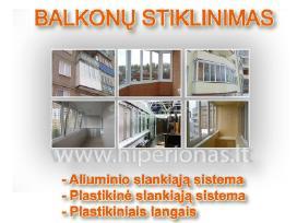 Balkonų stiklinimas Vilniuje nuo 270 eur