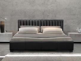 Naujos odinės lovos su čiužiniais