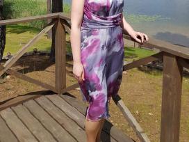 Pilkai violetinė suknelė