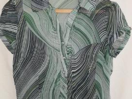 Marga žaliai juoda palaidinė
