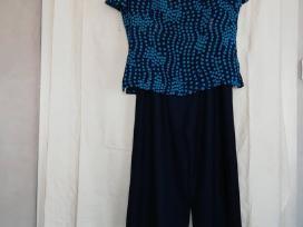 Tamsiai mėlynai žydras kelnių kostiumėlis - nuotraukos Nr. 2