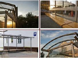 Viešojo transporto, autobusų stotelės, paviljonai. - nuotraukos Nr. 4