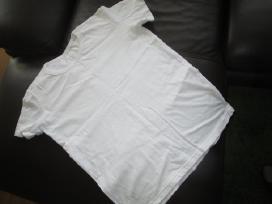 Baltos polo maikės M dydžio kitos L- 100% medvilnė