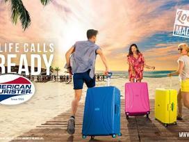 American Tourister plastikiniai lagaminai 66x46x25