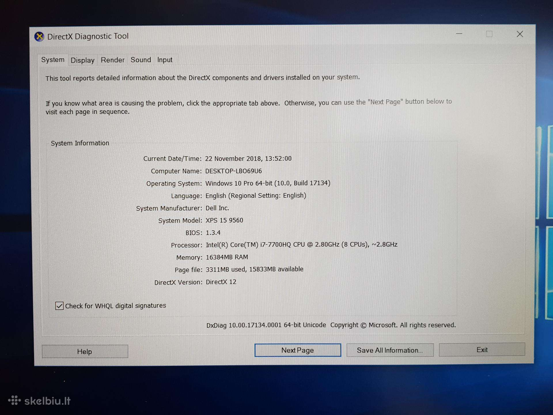 Dell Xps 9560 Bios
